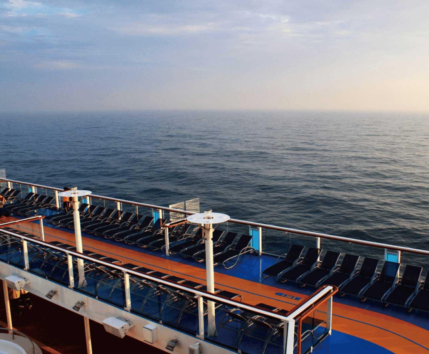乘坐游轮去看海